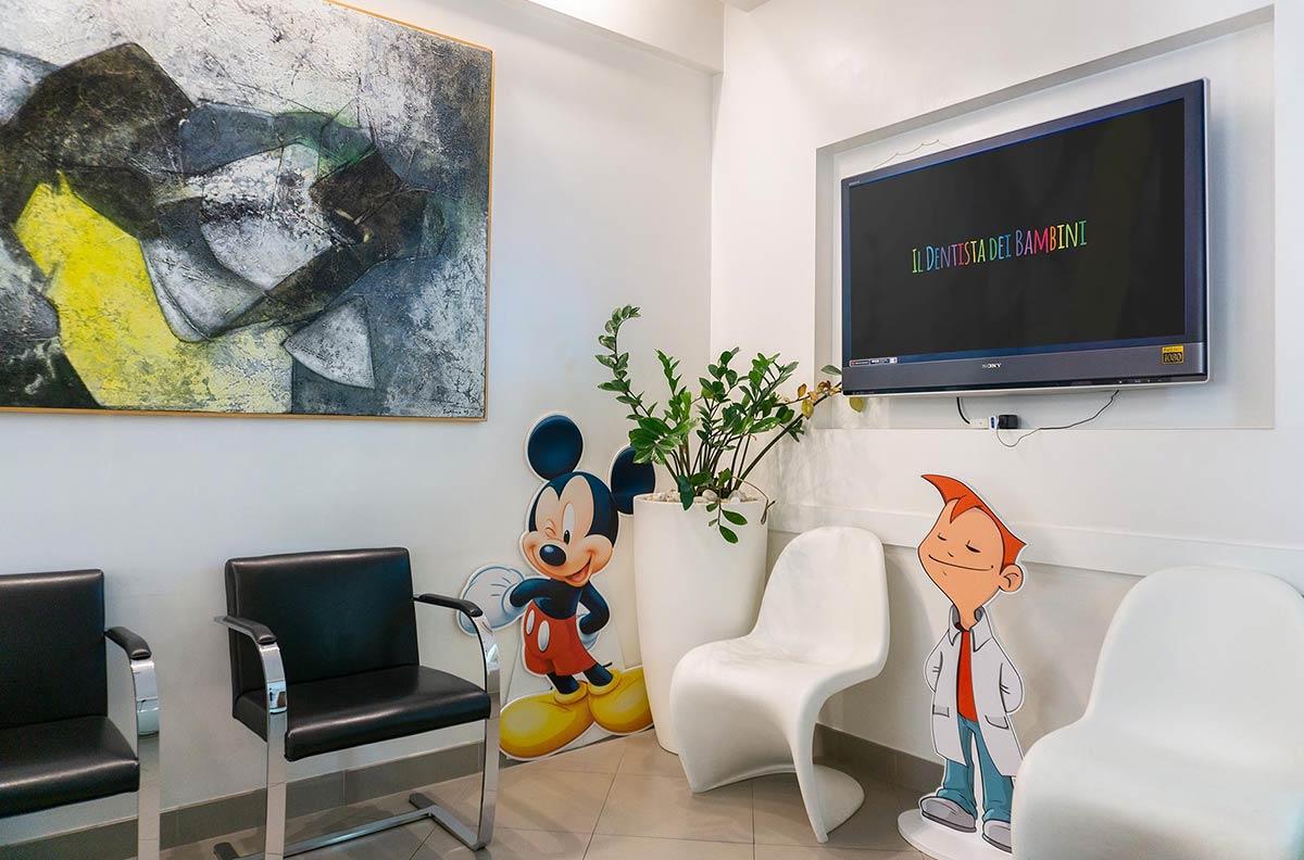 02 Sala d'attesa - Dentista dei bambini - Studio Pelagalli - Centro Odontoiatrico Roma